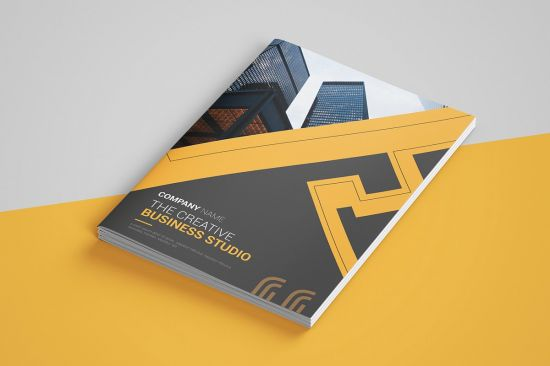 Creativemarket   Abstract Bi fold Brochure 4473001