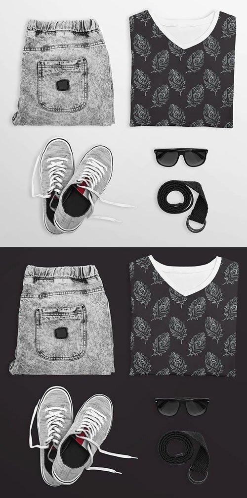 Clothes Scene PSD Mockups