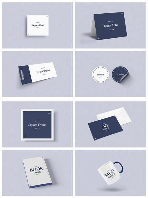 30 Stationery PSD Mockups Collection