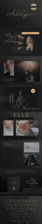 Adelya - Elegant Script Font