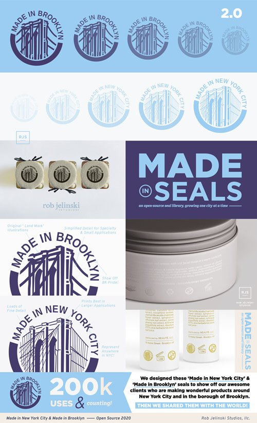 Made in Brooklyn/New York City - Seals Badges in Vector