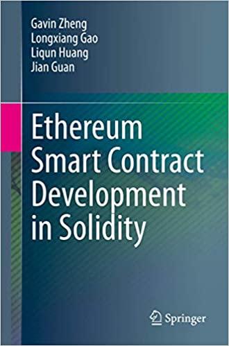 Ethereum Smart Contract Development in Solidity