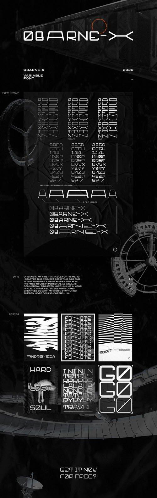 Obarne-X Sans Serif Font [3-Weights] + SVG Font