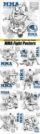 MMA Fight Vector Posters   9x EPS