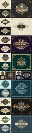 Vintage luxury logo template with detailed design