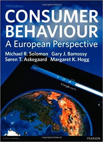 Consumer Behaviour: A European Perspective by Michael Solomon