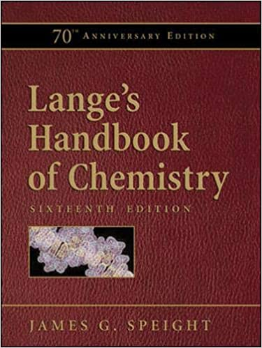 Lange's Handbook of Chemistry, 16th Edition, 70th Anniversary Edition