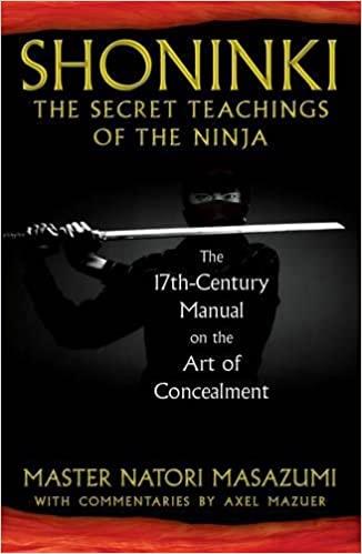 Shoninki: The Secret Teachings of the Ninja: The 17th Century Manual on the Art of Concealment