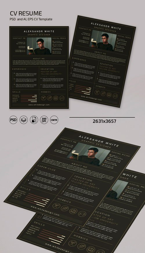 CV Resume & Cover Letter Templates in [PSD/Ai/EPS]