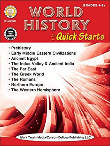 Mark Twain   World History Quick Starts Workbook, Social Studies, History, 64 Pages, Grades 4-12