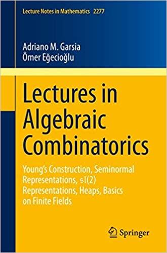 Lectures in Algebraic Combinatorics: Young's Construction, Seminormal Representations, SL(2) Representations, Heaps, Bas