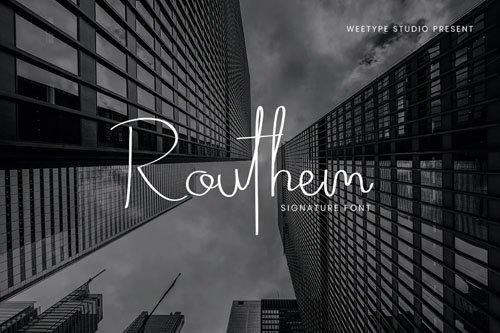 Routhem - Signature Font