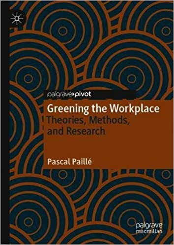 Greening the Workplace: Theories, Methods, and Research
