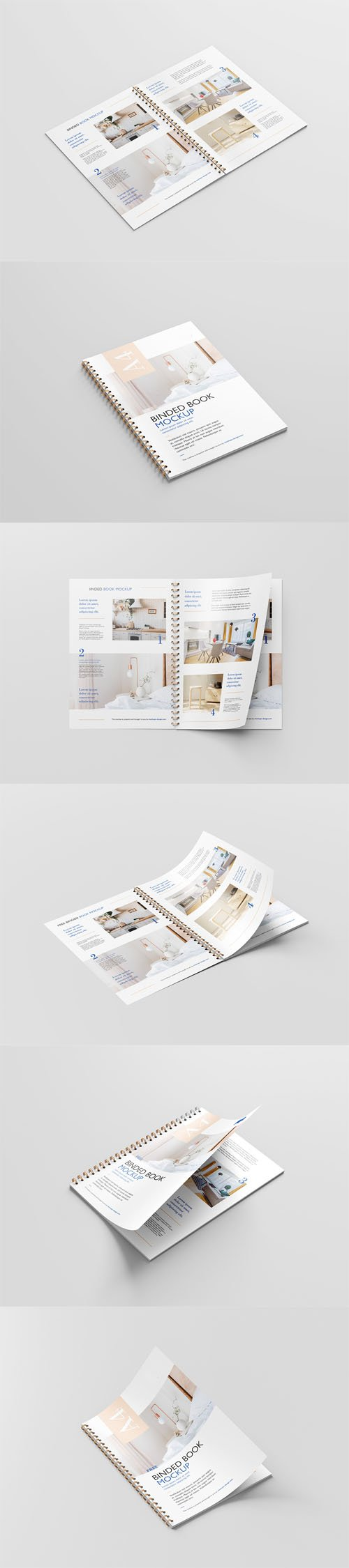 Binded Book PSD Mockup Template