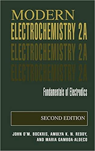 Modern Electrochemistry 2A: Fundamentals of Electrodics