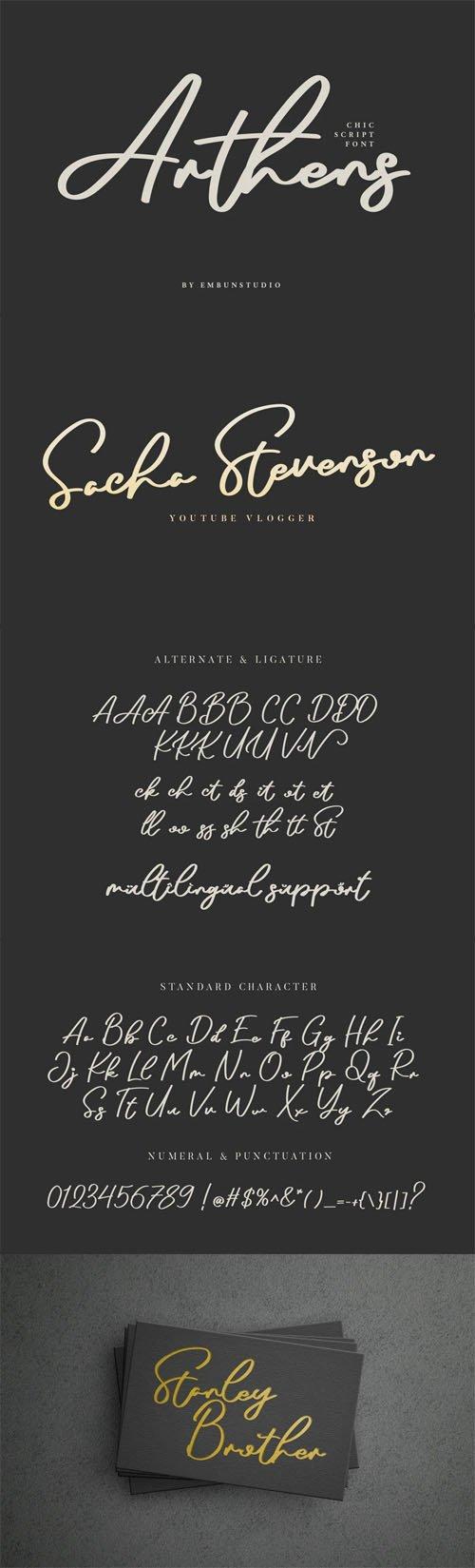 Arthens - Chic Script Font