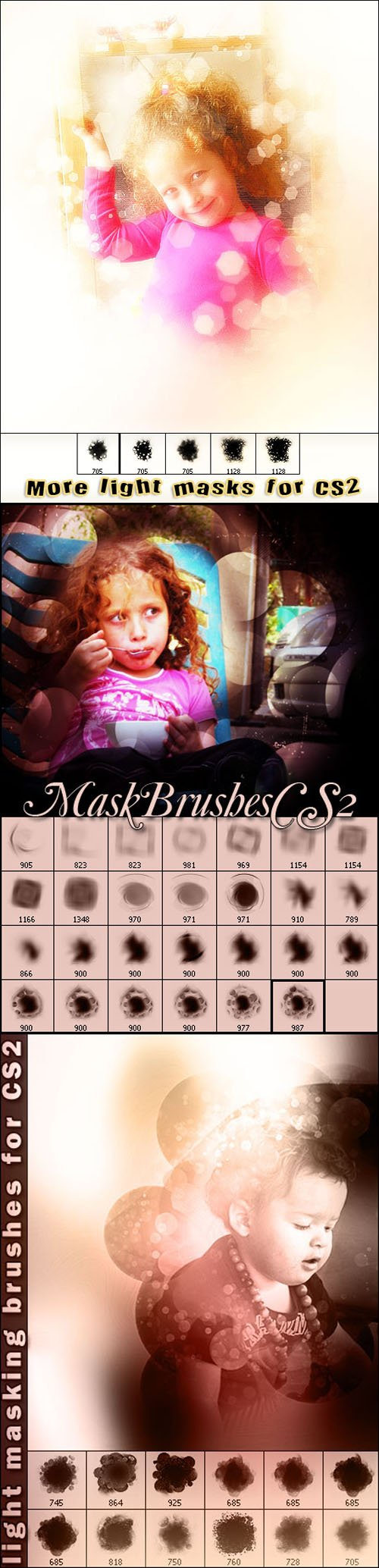 Light Masking Brushes Set for Photoshop