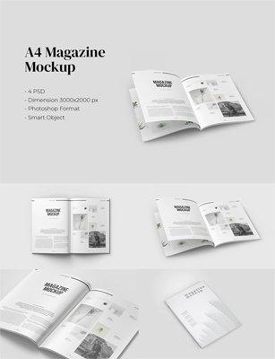 Magazine PSD Mockup with A4 Size