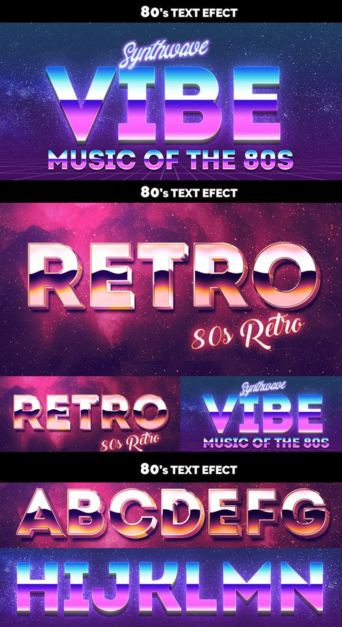 80s Text Effects for Photoshop