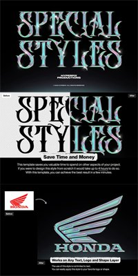 Holographic Chrome Text Effect Vol.1 for Photoshop