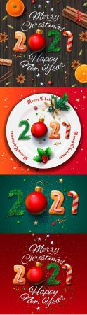 Download Greeting card for Christmas and New Year 2021 ...