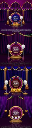 Elegant Black Friday promotion sale special banner offer