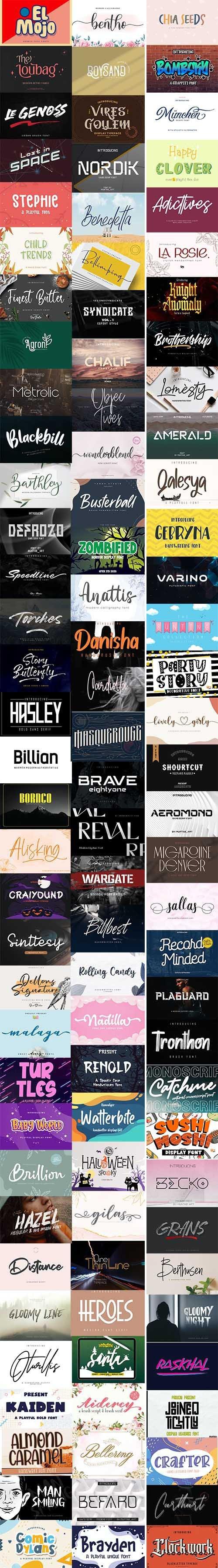 100 Super Creative Fonts
