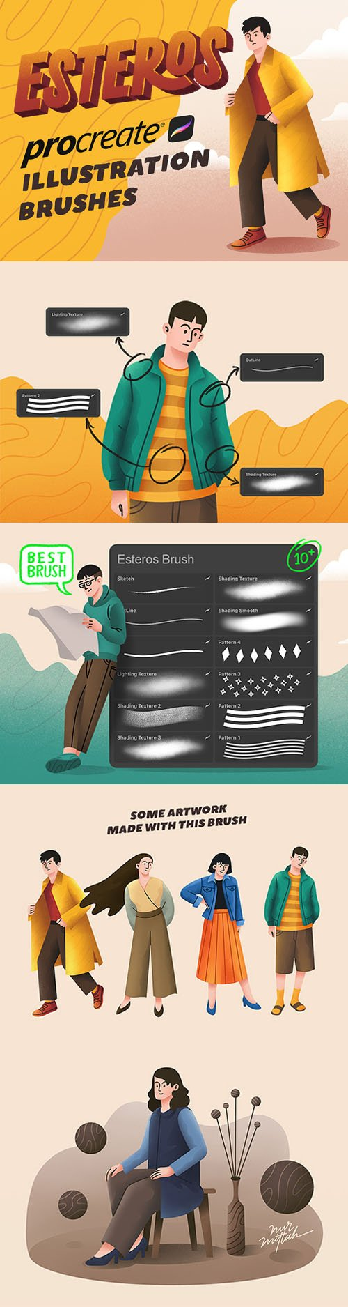 10+ Esteros Procreate Illustration Brushes