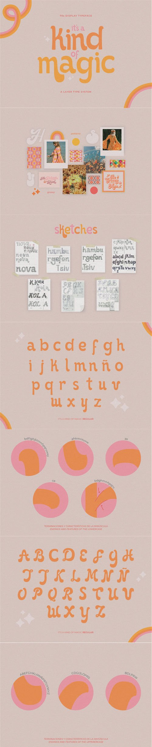 It's Kind of Magic - 70's Display Typeface [5-Weights] + SVG
