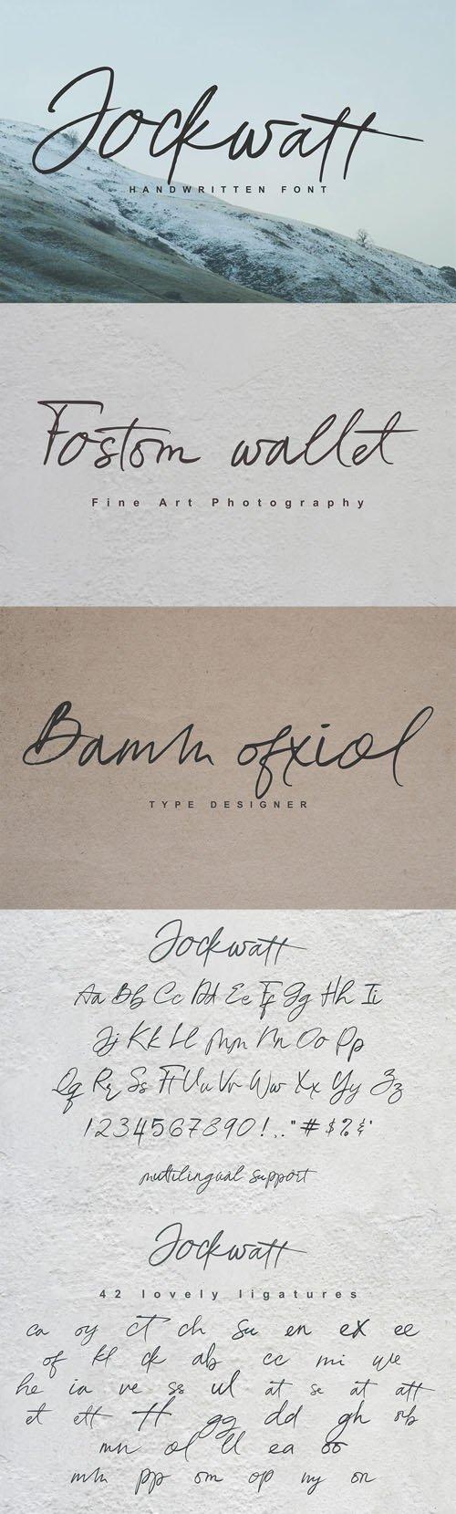 Jockwatt Handwritten Font