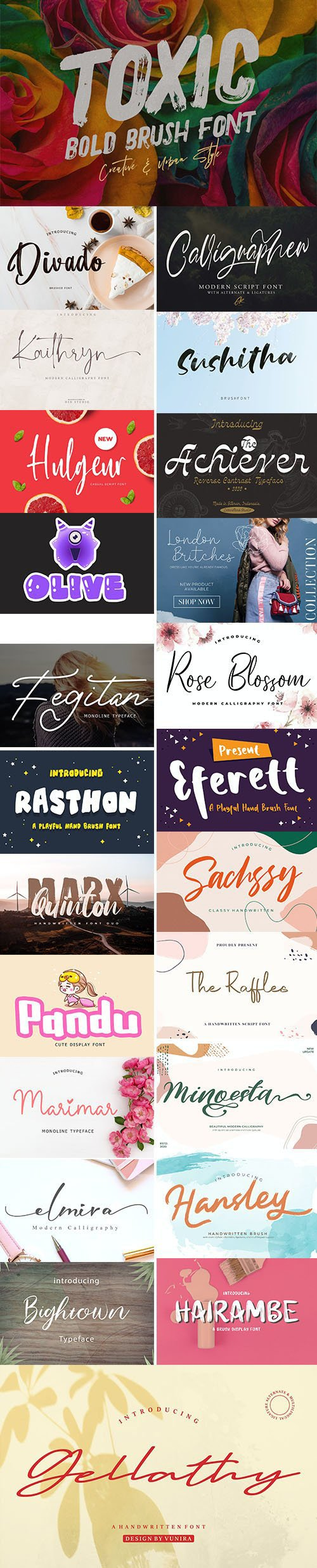 Super Modern Fresh Creative Fonts - 29 Fonts