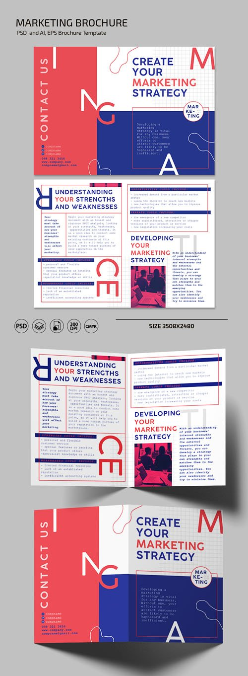 Marketing Brochure [PSD/Ai/EPS] Templates