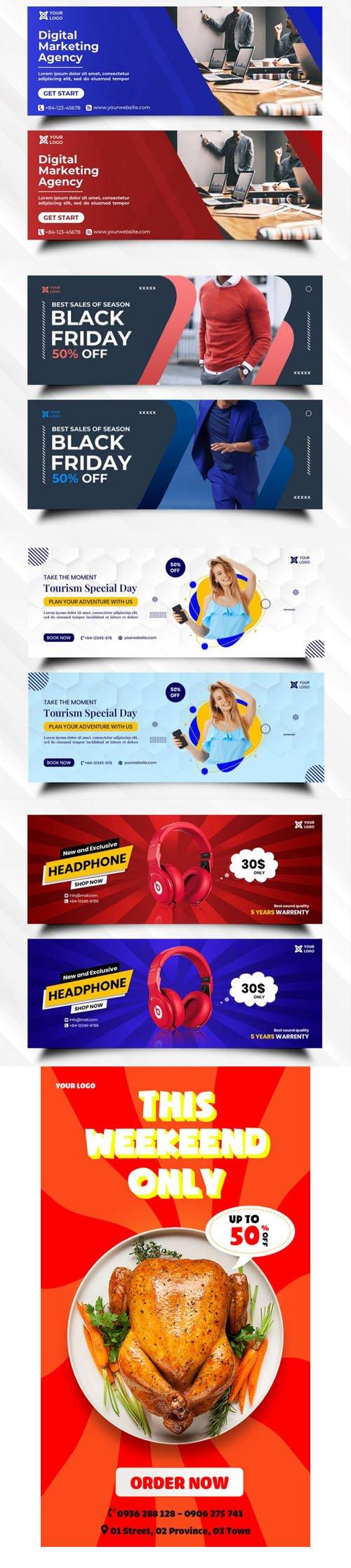 Social Media Ad Banners PSD Templates