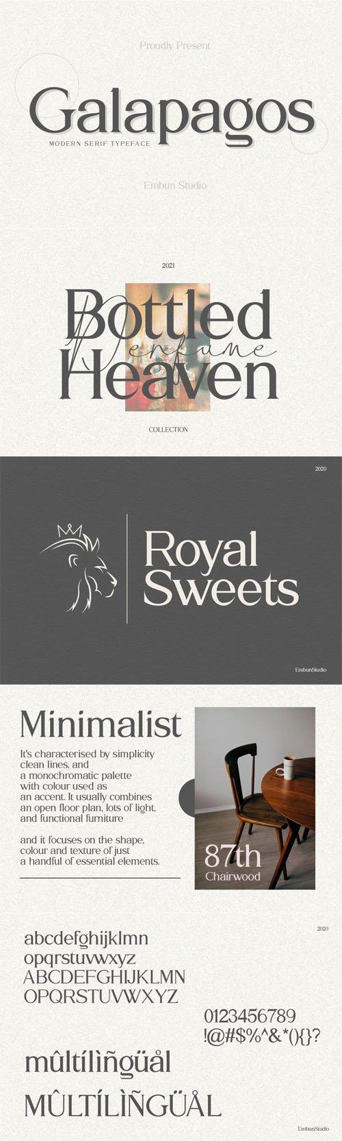 Galapagos - Modern Serif Typeface