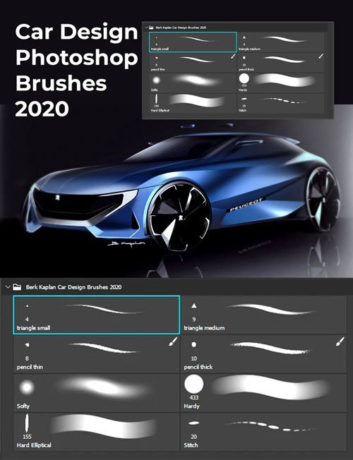 Car Design Photoshop Brushes 2020