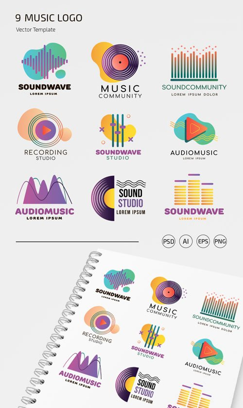 9 Music Logo Vector Templates