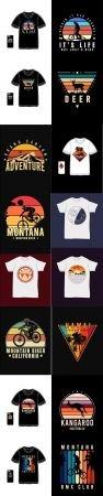 T shirt merchandise silhouette typography