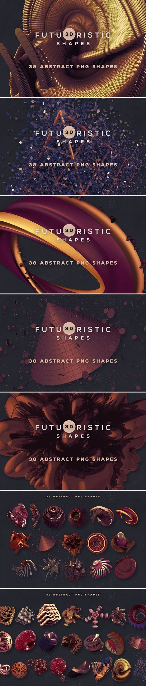 3D Creative Abstract Shapes Collection