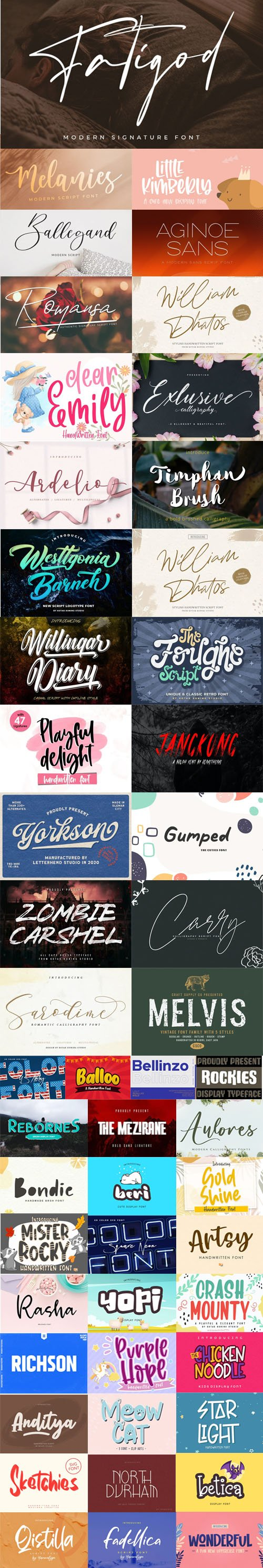 53 New Creative Fonts 2020