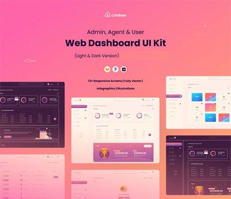 Web Dashboard UI Kit - Admin, Agent & User