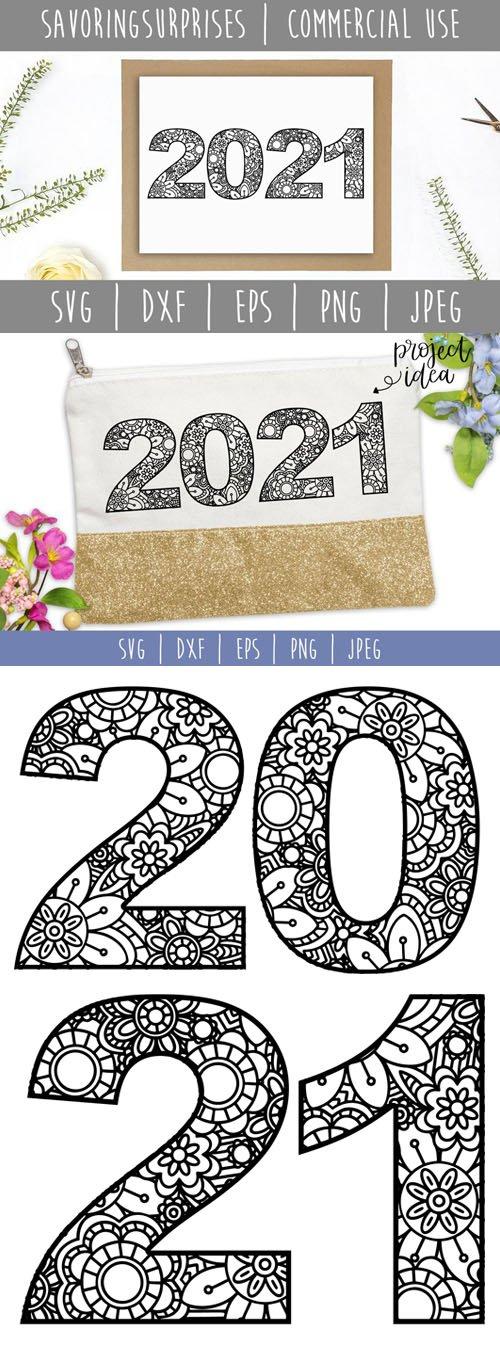 2021 Mandala Texture in Vector