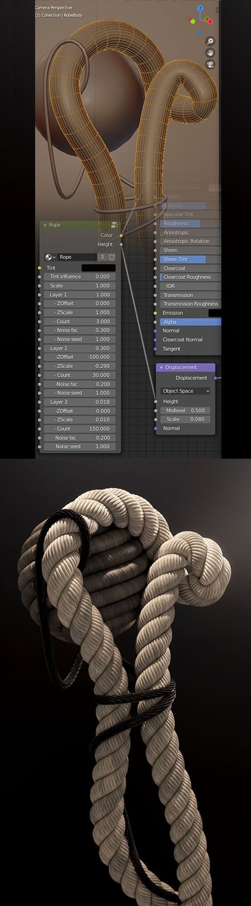 Rope Shader v0.1 - Blender Procedural for Blender 2.81