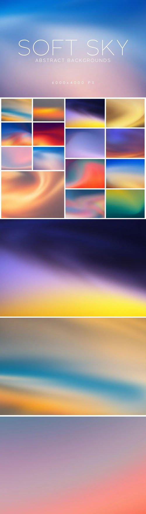 15 Soft Sky Abstract Backgrounds