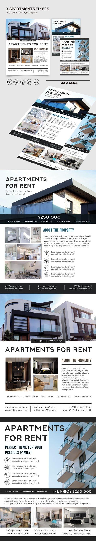 Apartments Flyers PSD Templates