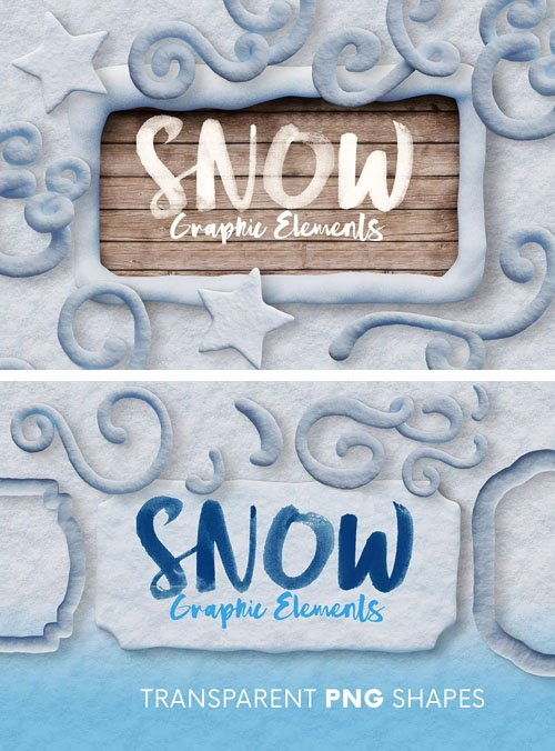 Snow & Winter 3D Graphic Elements - Transparent PNG Shapes