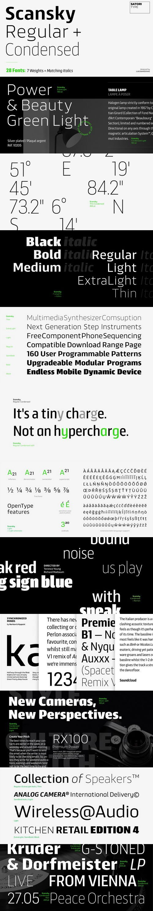 Scansky Font Family [28-Weights]