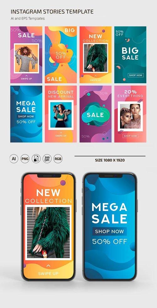 Instagram Stories Sales Banners Vector Templates