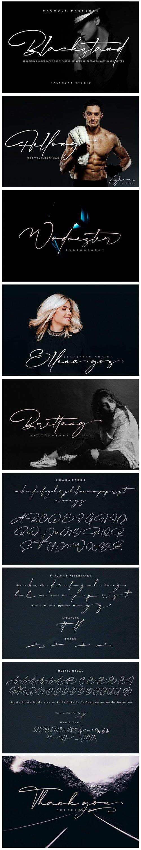 Blackstand - Beautiful Photography Font