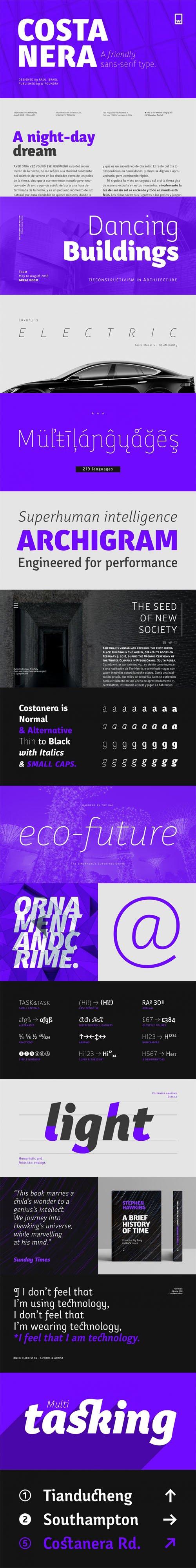 Costanera Sans-Serif Font Family [32-Weights]