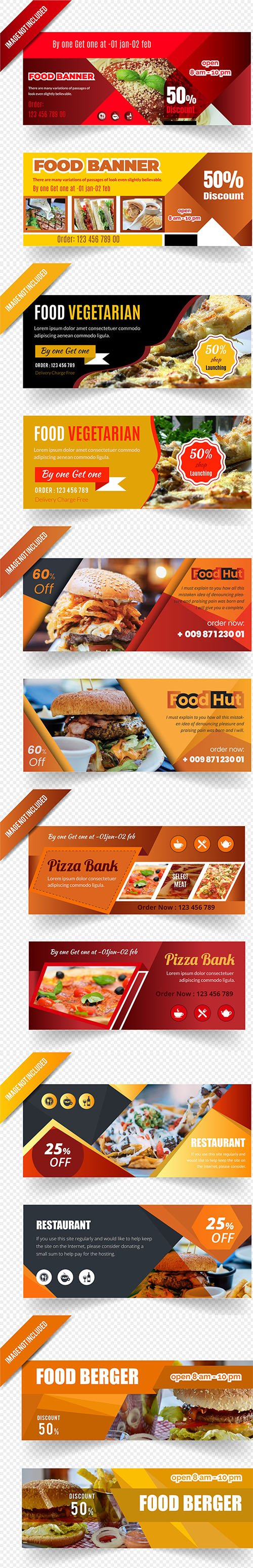 Banners for Cafes and Restaurants - Vector Clipart